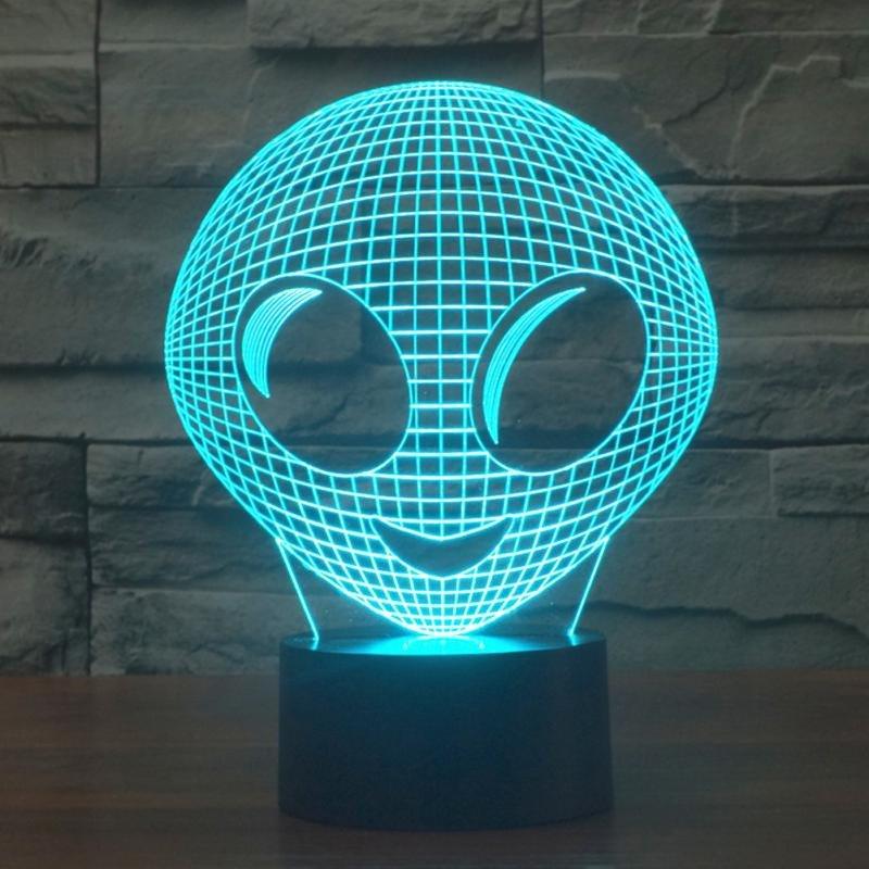 Cute Alien 3d led lamp
