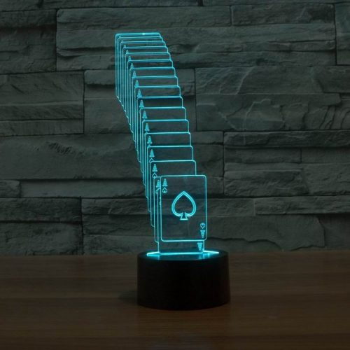 Aqua Cards 3d led lamp