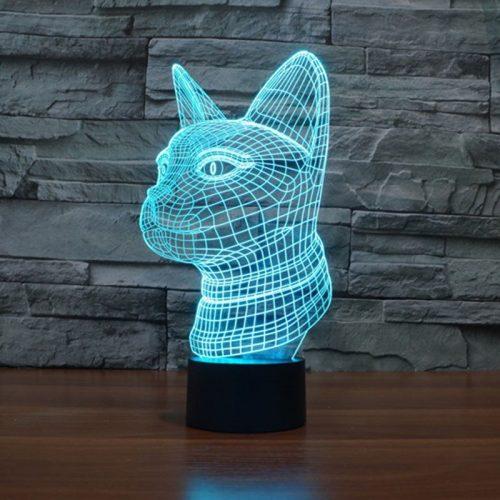 Cat 3d led lamp 2