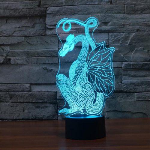 Dragon 3d led lamp 2