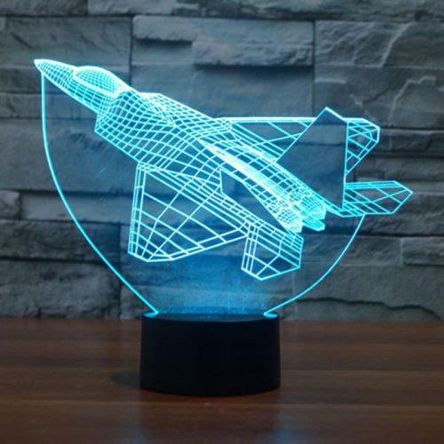 Aqua Fighter Plane 3d led lamp
