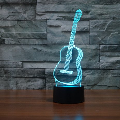 Guitar 3d led lamp