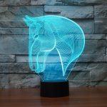 Horse 3d led lamp 2