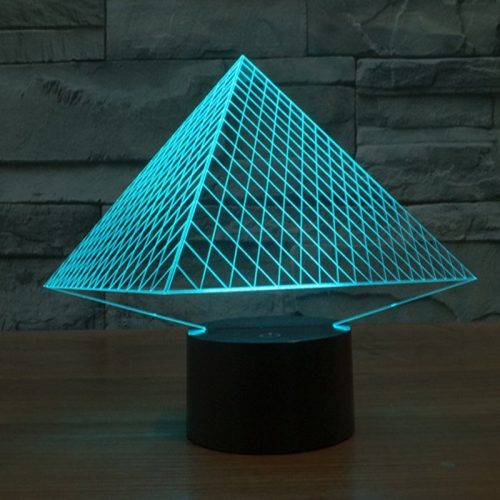 Pyramid 3d led lamp