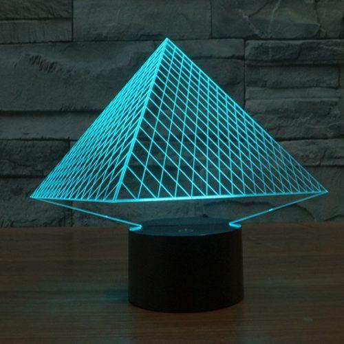 Pyramid 3d led lamp