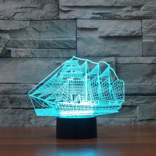 Aqua Sail Boat 3d led lamp