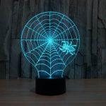 Spider Web 3d led lamp 2