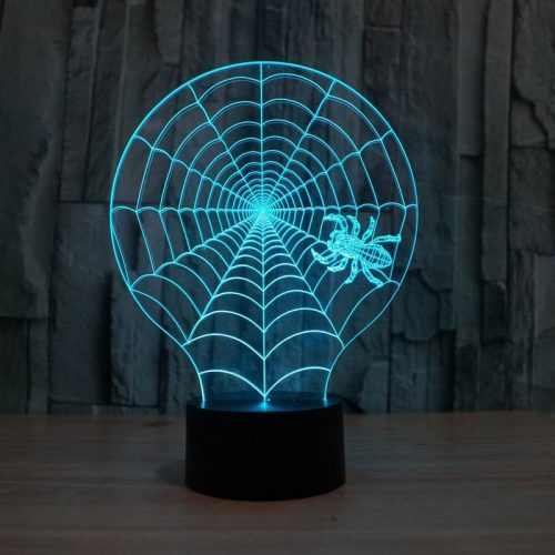 Spider Web 3d led lamp 2