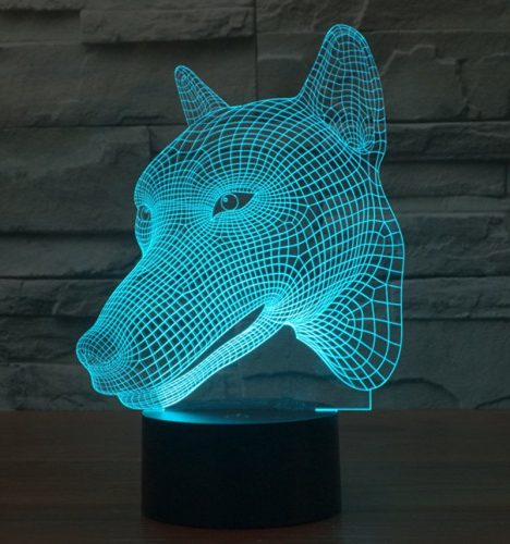 Wolf 3d led lamp 2