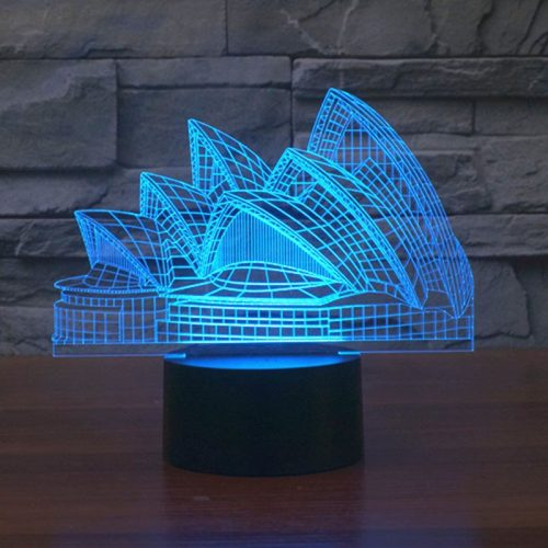 Sydney Opera House 3d led lamp 3