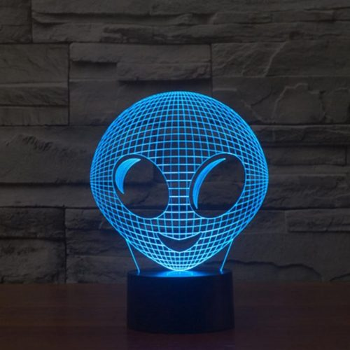 Cute Alien 3d led lamp 2