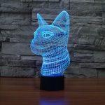 Cat 3d led lamp 3