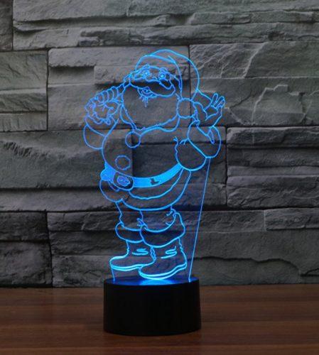 Ho Ho Santa 3d led lamp 2