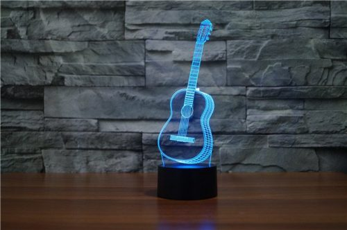 Guitar 3d led lamp 2