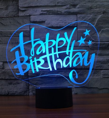 Happy Birthday 3d led lamp 2