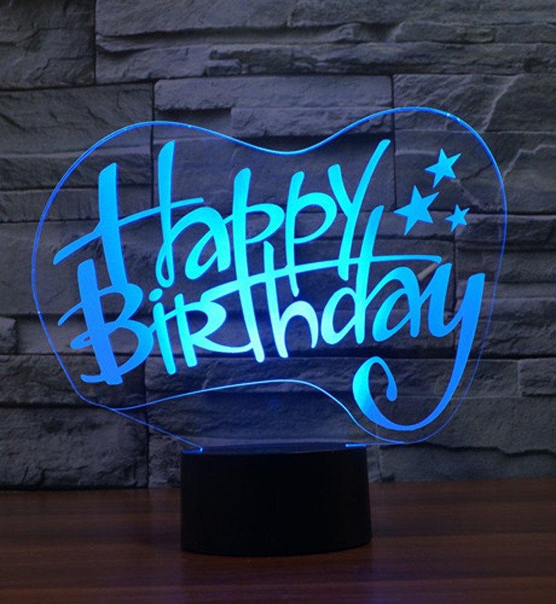 Happy Birthday 3d Led Lamp