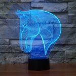 Horse 3d led lamp 3