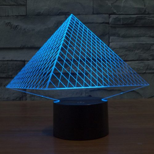 Pyramid 3d led lamp 2