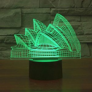 Sydney Opera House 3d led lamp