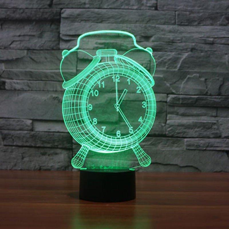 Green Alarm Clock 3d led lamp