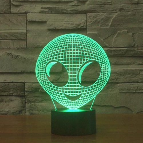 Cute Alien 3d led lamp 3