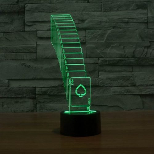 Green Cards 3d led lamp