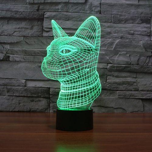 Cat 3d led lamp 4