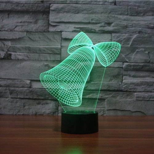 Jingle Bells 3d led lamp 3
