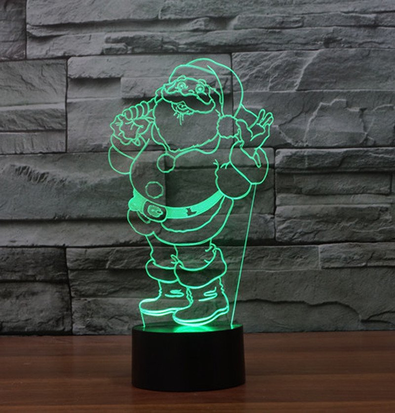 Ho Ho Santa 3d led lamp