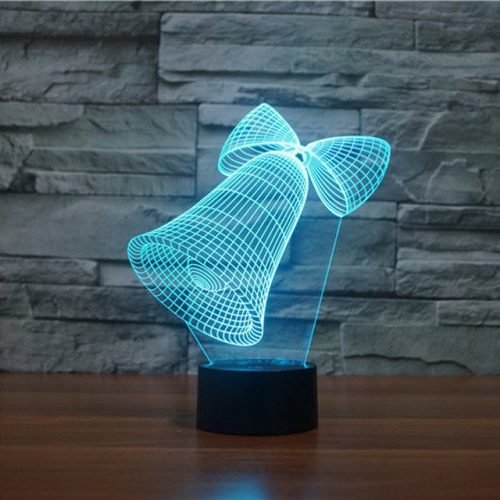 Jingle Bells 3d led lamp 4