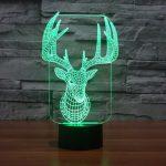Reindeer 3d led lamp 2