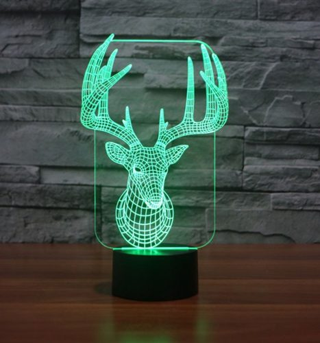 Reindeer 3d led lamp 2