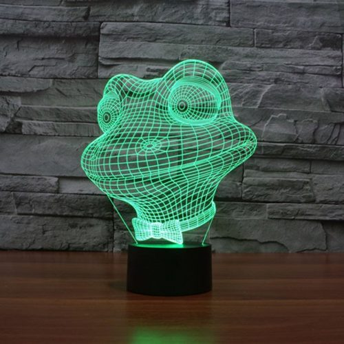 Frog 3d led lamp