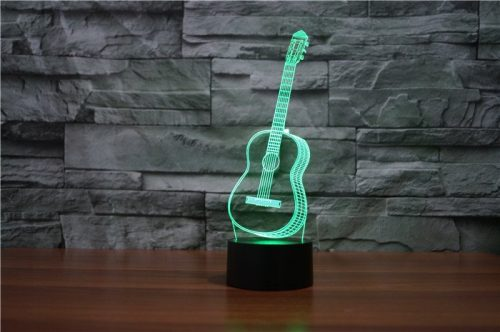 Guitar 3d led lamp 3