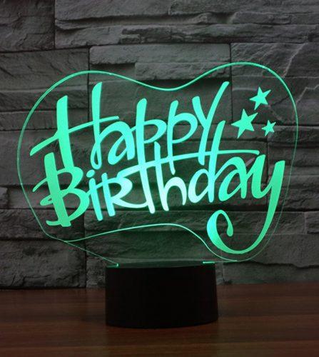 Happy Birthday 3d led lamp 3