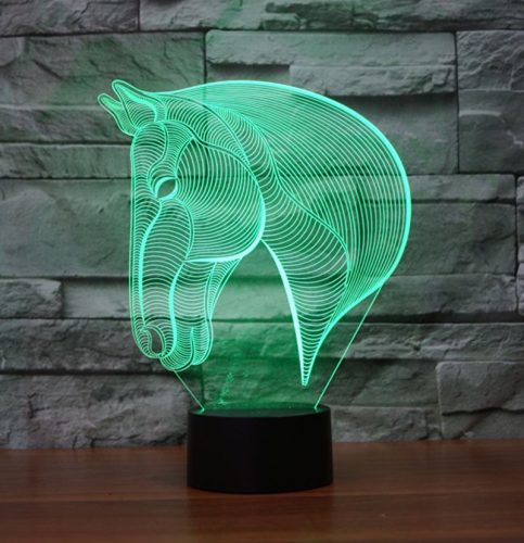 Horse 3d led lamp