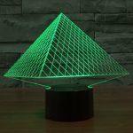 Pyramid 3d led lamp 3
