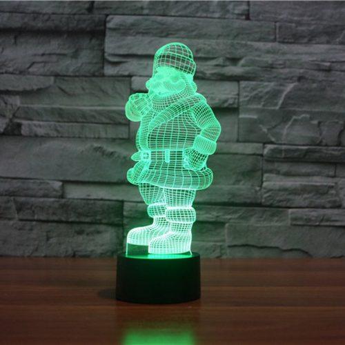 Santa 3d led lamp