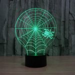 Spider Web 3d led lamp 3