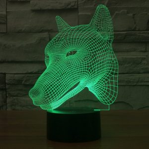 Wolf 3d led lamp