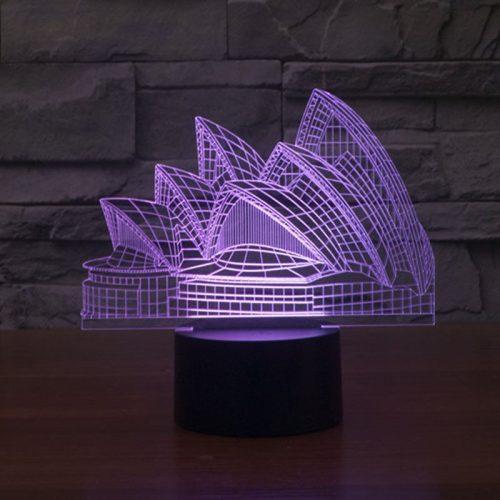 Sydney Opera House 3d led lamp 4