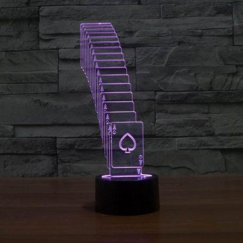 Purple Cards 3d led lamp