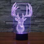 Reindeer 3d led lamp 3
