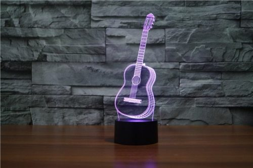 Guitar 3d led lamp 4