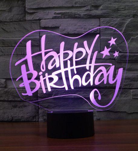 Happy Birthday 3d led lamp 4