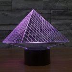 Pyramid 3d led lamp 4
