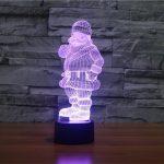 Santa 3d led lamp 3