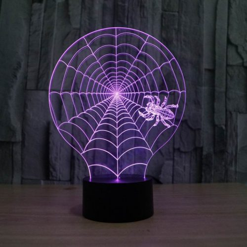 Spider Web 3d led lamp 4