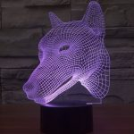 Wolf 3d led lamp 3