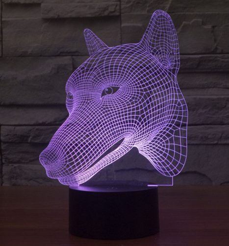 Wolf 3d led lamp 3